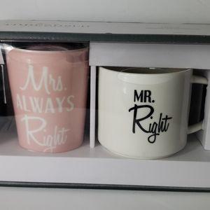 Mugs Mr. & Mrs. pair